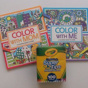 COLOR WITH... and CRAYOLA Markers BUNDLE  (NWT)
